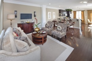 Carlyle Towhouse Living Room