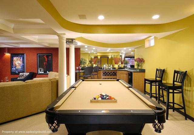 Basement remodeling delaware home builders for Rec room pools