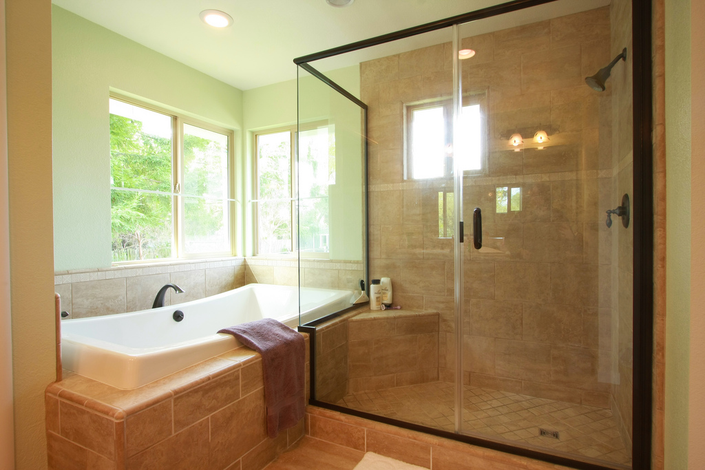 Bathroom remodel delaware home improvement contractors for Bathroom remodel images