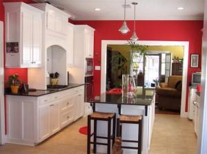 dark paint kitchen design