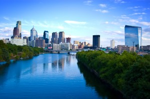 philadelphia skyline from delaware river