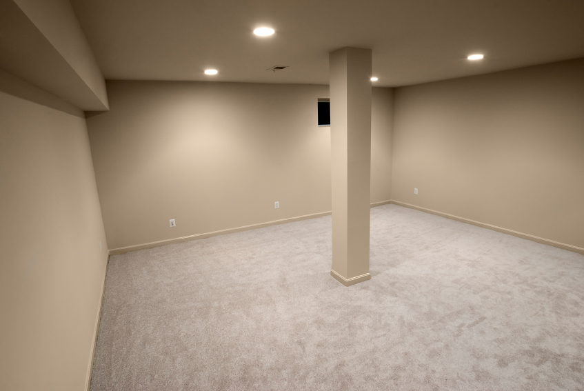 Basement remodeling delaware home builders for Interior support columns