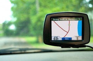 GPS Navigation in Travelling Car