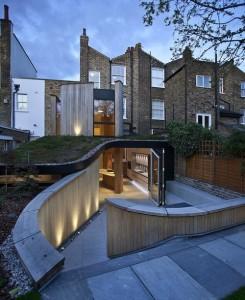 Open air kitchen home addition