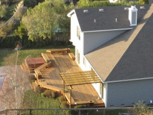 overview of deck addition