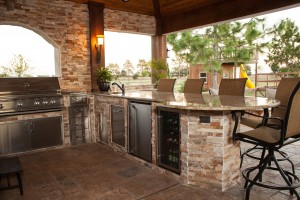 outdoor kitchen - montchanin