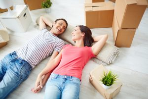 couple moving into new home