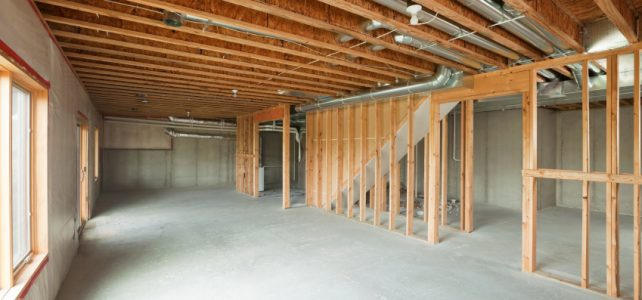 interior residence construction site